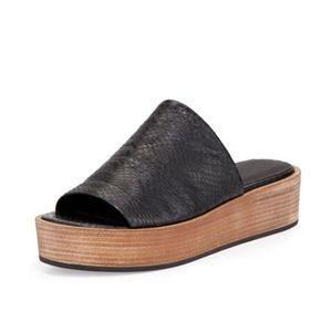 Vince Saskia Snakeskin Embossed Leather Sandals